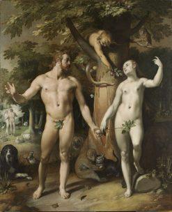 The Fall of Man   Cornelis van Haarlem   Oil Painting