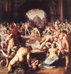 The Massacre of the Innocents   Cornelis van Haarlem   Oil Painting