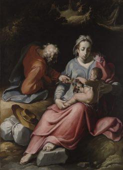 The Holy Family   Cornelis van Haarlem   Oil Painting
