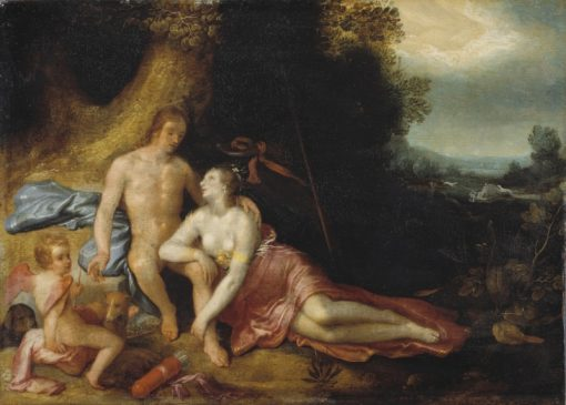 Venus and Adonis | Cornelis van Haarlem | Oil Painting
