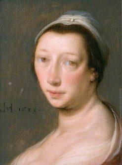 Head of a Woman | Cornelis van Haarlem | Oil Painting