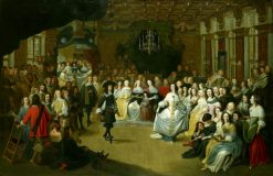 Ball given to Charles II in the Hague on his departure to England | Hieronymus Janssens | Oil Painting