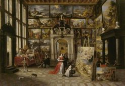 A Picture Gallery with Fashionable Visitors | Hieronymus Janssens | Oil Painting