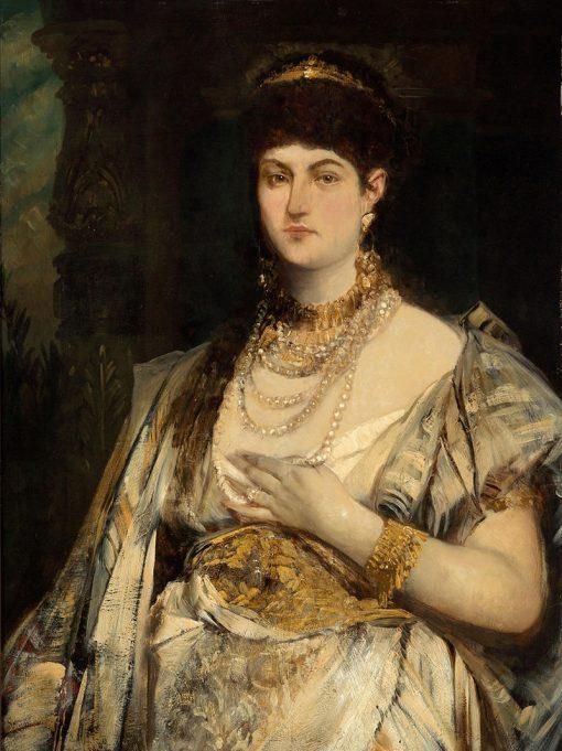 Portrait of Henriette Mankiewicz | Hans Makart | Oil Painting
