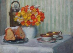 Afternoon ?offee   Richard Mauch   Oil Painting