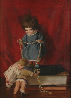 Still-life with Dolls   Richard Mauch   Oil Painting