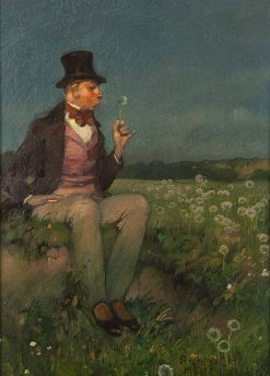 Gentleman on the Summer Meadow   Richard Mauch   Oil Painting
