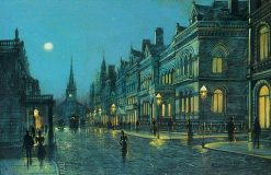 Park Row at Night | Wilfred Jenkins | Oil Painting