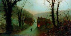 Danger Bank (after John Atkinson Grimshaw) | Wilfred Jenkins | Oil Painting