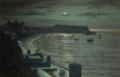 Moonlight Coastal Scene | Wilfred Jenkins | Oil Painting