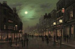 The Strand by Moonlight | Wilfred Jenkins | Oil Painting