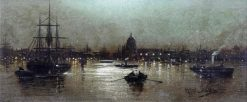 London at Night | Wilfred Jenkins | Oil Painting