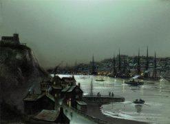 Evening harbor scene | Wilfred Jenkins | Oil Painting