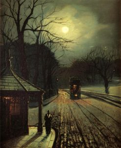 Tram in the Moonlight | Wilfred Jenkins | Oil Painting