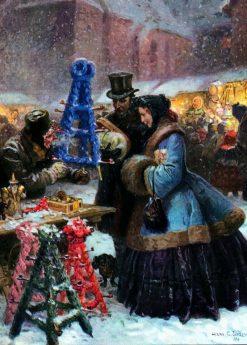 Christmas Market   Hans Gabriel Jentzsch   Oil Painting