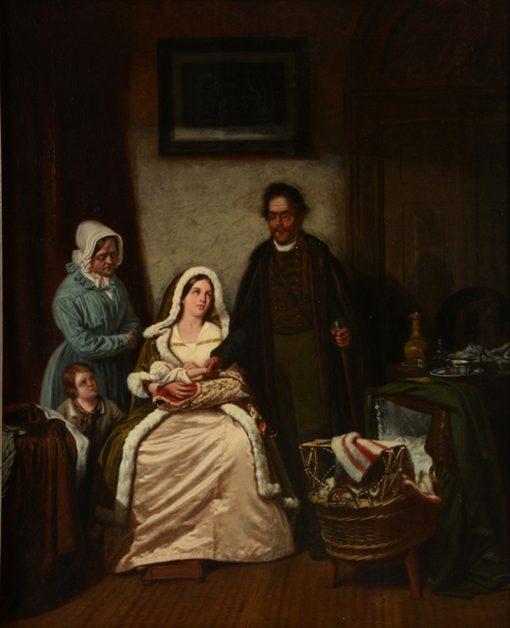 Figures in an Interior   Jan Lodewijk Jonxis   Oil Painting