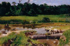 Fluvial Landscape | Jose Ferraz de Almeida Junior | Oil Painting