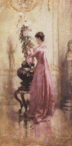 Woman with Chrysanthemums | Eugène Joors | Oil Painting