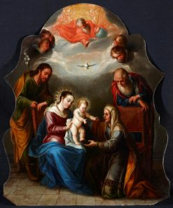 The Holy Family with St. Joachim and St. Anne | Juan Rodriguez Juarez | Oil Painting