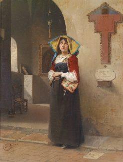 Devotion   Domenico Induno   Oil Painting