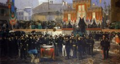 King of Italy Vittorio Emanuele II laying the foundation stone of the Galleria Vittorio Emanuele II | Domenico Induno | Oil Painting