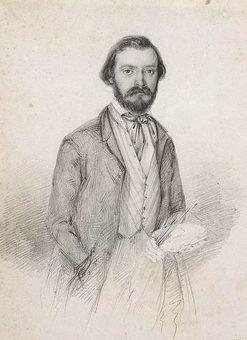 Self Portrait   Domenico Induno   Oil Painting