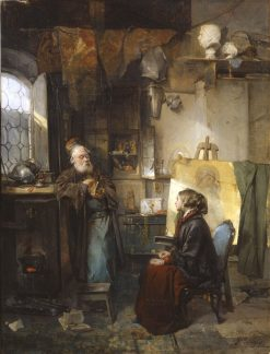 The Moneylender   Domenico Induno   Oil Painting