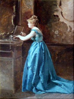 Azzurro   Domenico Induno   Oil Painting