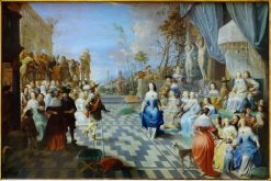 Ball on the terrace of a palace | Hieronymus Janssens | Oil Painting