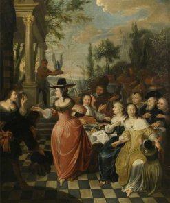 Flemish Ladies Party | Hieronymus Janssens | Oil Painting