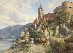 View of Durnstein | Leopold Munsch | Oil Painting