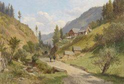 Landscape in Lower Austria | Leopold Munsch | Oil Painting