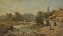 Scene of Lundenburg | Leopold Munsch | Oil Painting