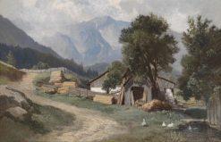 Scene in Gastein | Leopold Munsch | Oil Painting