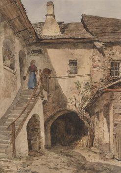 Farm in Spitz on the Danube | Leopold Munsch | Oil Painting