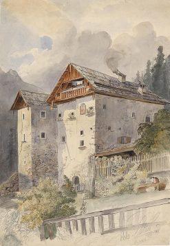 Old houses in Hallstatt | Leopold Munsch | Oil Painting