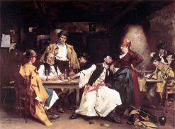 In the Tavern | Bertelan Karlovsky | Oil Painting