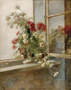 Sweet William in the Window | Bertelan Karlovsky | Oil Painting