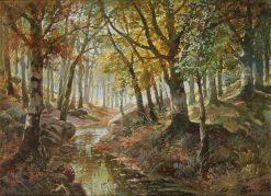 River Landscape in Autumn | Karl Vikas | Oil Painting