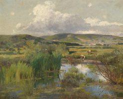 Cows by the Pond | Adolf Kaufmann | Oil Painting