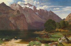 Idyllic Mountain Lake | August Albert Zimmermann | Oil Painting