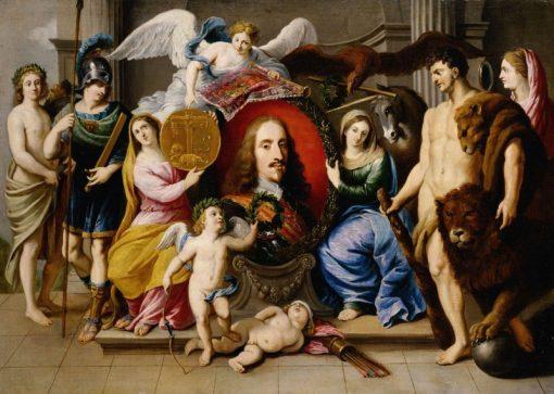 Allegory on Archduke Leopold Wilhelm | Jan van den Hoecke | Oil Painting
