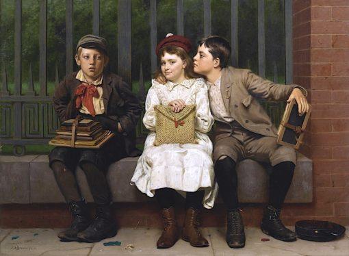 Not In It   John George Brown   Oil Painting