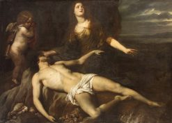 Hero Laments the Dead Leander | Jan van den Hoecke | Oil Painting