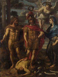 Virtue Overcoming Avarice   Jan van den Hoecke   Oil Painting