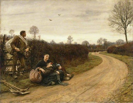 Hard Times   Hubert von Herkomer   Oil Painting