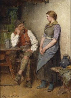 Conversation | Hugo Wilhelm Kauffmann | Oil Painting