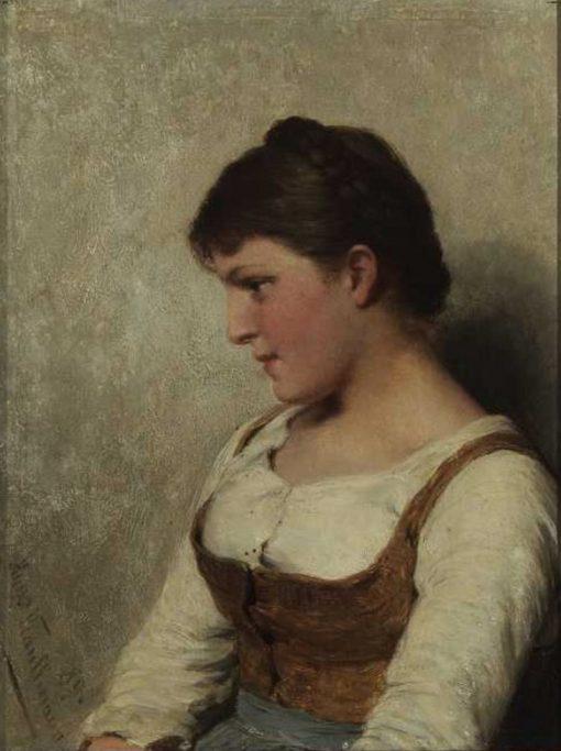 A Young Woman | Hugo Wilhelm Kauffmann | Oil Painting