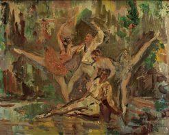 Ballet Dancers | Hugo Wilhelm Kauffmann | Oil Painting
