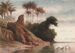 Brazilian River Landscape | Ferdinand Keller | Oil Painting